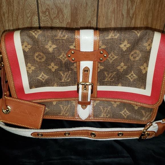 Louis Vuitton Handbags - Louis Vuitton Monogram Tisse Porte Rayures Purse